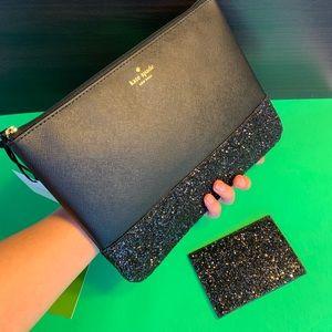 ✨Kate Spade Set in Black Glitter ✨